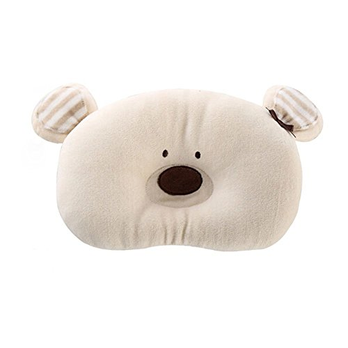 Merryshop@ Prevent Flat Head Toddle From Baby Head Support Pillow -Bear (Bear)