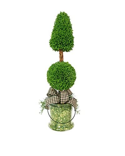 Creative Displays Inc. Split Pea Cone and Ball Topiary, Green