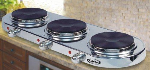 Cheap Cuisine Cookware Triple Buffet Burner – Stainless Steel|TBS (B002N6ON2K)