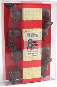 Charcoal Companion CC5009 Dog Corn Holders, Set of 4