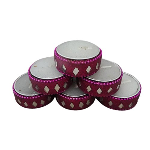 Decorative Tea Lights Handmade Diwali Gift Set Of 6 Pcs Diya Traditional Home Decor Candles Set