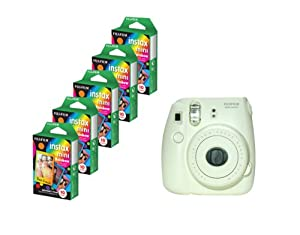 Fujifilm Instax Mini 8 White Camera + Mini Rainbow Colored Border 50 images