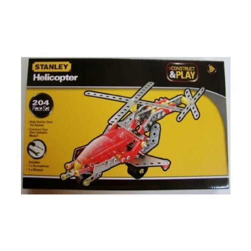 Stanley Construct & Play Helicopter 204 Piece Set