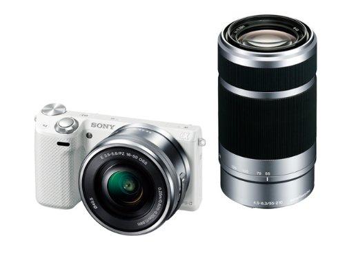 ソニー デジタル一眼カメラ α NEX-5Rダブルズームレンズキット ホワイト NEX-5RY/W
