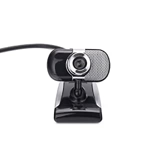 HDE USB Mini Swivel Mount Webcam with Microphone for Laptop Tablet Computer PC