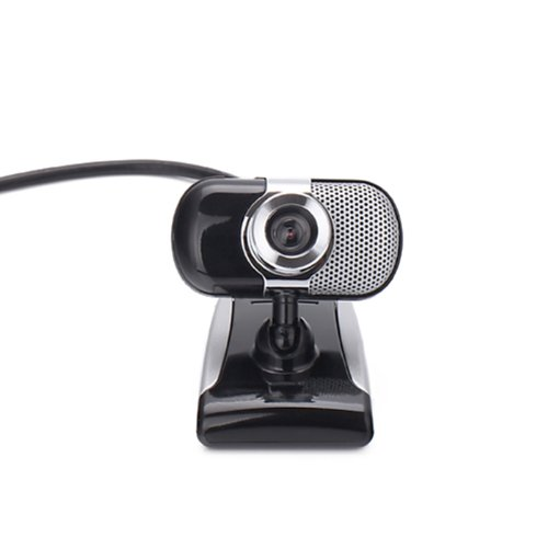 Hde Black Usb Webcam With Microphone