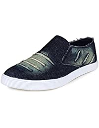 SGTS Mens' Blue Slip-On Casual Loafer