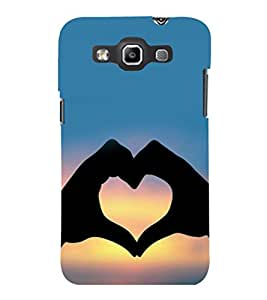 printtech Heart Peace Hardwell Sunset Back Case Cover for Samsung Galaxy Quattro i8552::Samsung Galaxy Quattro Win i8552