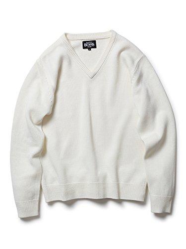(ビームス) BEAMS <WEB限定>BEAMS / NEW STANDARD ミリタリーVネックセーター 11150663048  OFF WHITE L