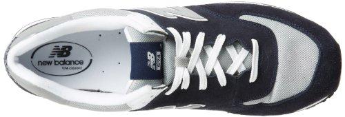 New BalanceNew Balance Men's M574 Classic Running Running Shoe,Navy/Silver,11 2E US
