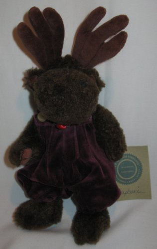"Boyds Bears Euphoria #91446 NEW 10"" Plush Moose TJ Best Dressed with Tags - 1"
