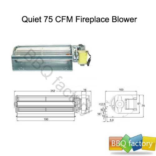 Bbq Factory Replacement Fireplace Fan Blower For Heat Surge Electric New Ebay