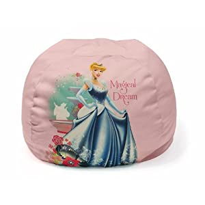 Disney Princess Bean Bag Chair for Girls by Idea Nuova