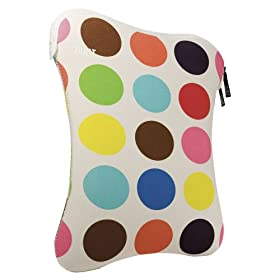 Built NY E-LS15-FMD 15-Inch French Bull Multi-Dot Pattern Laptop Sleeve