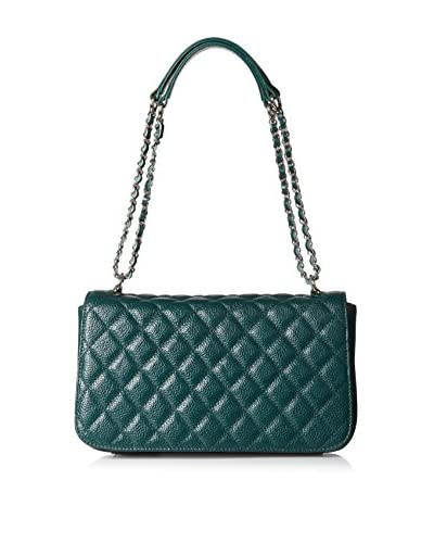 Zenith Women's Double Strap Quilted Crossbody, Green One Size