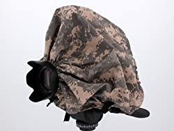 Digital Camouflage Camera Rain Cover For DSLR / SLR cameras Protects against Rain, Snow, and Dust Fits: Canon, Nikon, Olympus, Sony, Fuji, Pentax, Contax, Leica, Mamiya, Hasselblad, Bronica and more