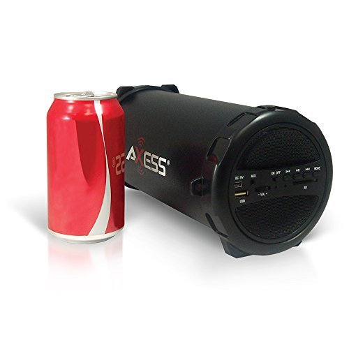 Axess-Portable-Bluetooth-IndoorOutdoor-Cylinder-Loud-Speaker