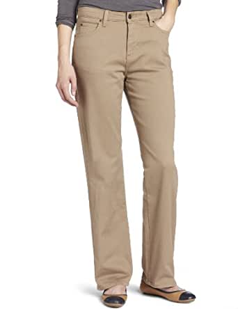 Lee Women's Petite Relaxed Fit Straight Leg Jean, Nomad, 10 Short Petite