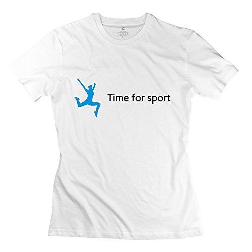 Zhitian Women'S Sports T-Shirt - Xxl White