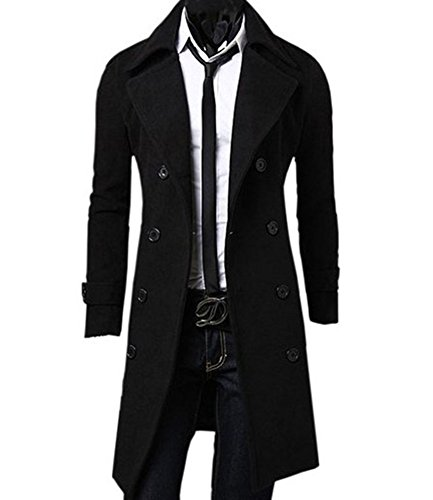 Benibos-Mens-Trench-Coat-Winter-Long-Jacket-Double-Breasted-Overcoat