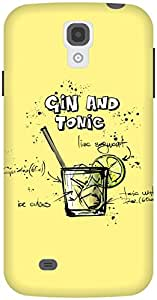 The Racoon Lean Lemon Gin and Tonic hard plastic printed back case / cover for Samsung Galaxy S4
