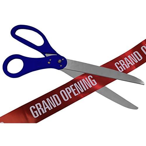 30 Inch Long Big Royal Blue Ceremony Ribbon Cutting Scissors
