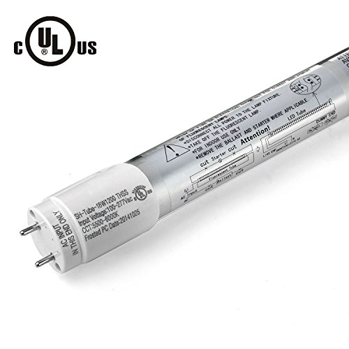 """Jacky Led 100% Ul Approved Cul Relisted Original Epistar Brightest 18 Watt 4-Foot 48"""" 1.2M 4Ft T8 T10 T12 Led Tube Light Tube Lamp Fixture No Ballast No Uv & Ir Smd Bulb Ce Fcc Day White If It Is Not Ul Approved ,We Will Pay 10.000 Usd For Punishment"""