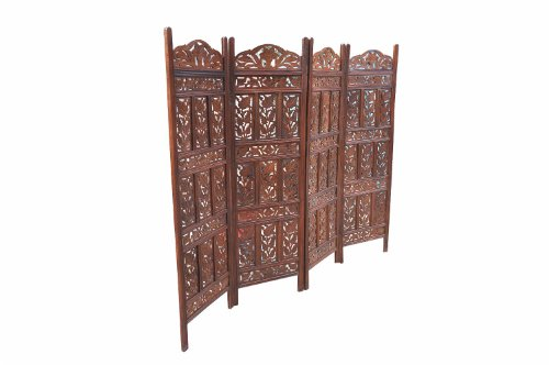 Inde paravent cloison en bois foncé grand classique