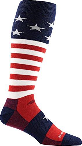 Darn Tough Captain America Ultra Light Sock - Men'S Stars & Stripes Small