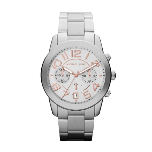 Michael Kors Mercer Chronograph Silver Dial Ladies