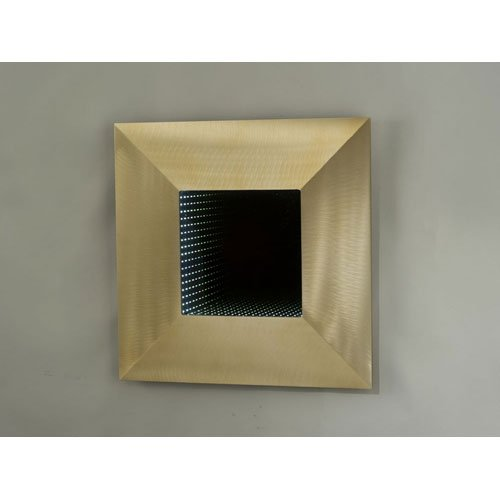 "Bronze Four Square Contemporary Led 24"" Sq Wall Mirror"