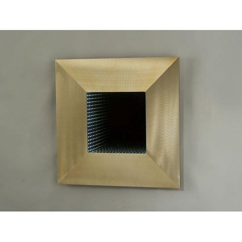 "Bronze Four Square Contemporary Led 24"" Sq Wall Mirror"