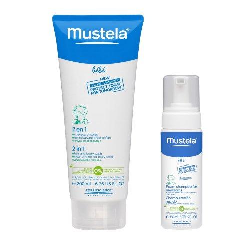 Mustela 2 In 1 Hair & Body Wash With Foam Newborn Shampoo