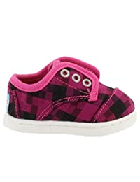 Toms Tiny Toddlers Paseo in Magenta Houndstooth
