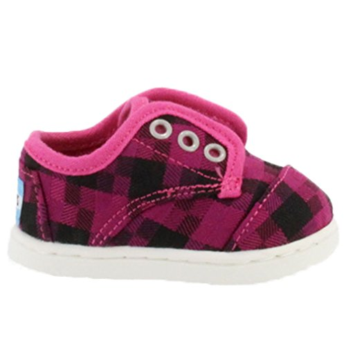 Toms Youth Paseos Sneakers Magenta Houndstooth 8 M US Toddler