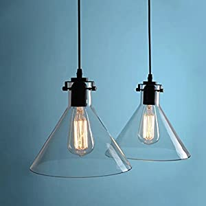 Buyee Modern Industrial Metal Glass Loft Pendant Lamp Retro Ceiling Light Vintage Lamp by Shenzhen Buyee Trading Co.,Ltd