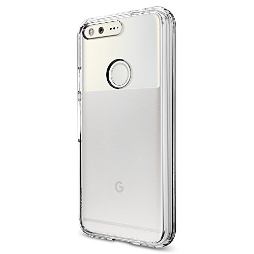 Spigen-Ultra-Hybrid-Google-Pixel-Case-with-Air-Cushion-Technology-and-Hybrid-Drop-Protection-for-Google-Pixel-2016-Crystal-Clear