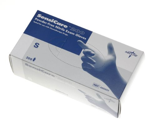 SensiCare 200 Powder-Free Nitrile Exam Gloves,Blue,X-Small, Qty 2000
