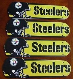 Ceiling Fan Designers 42SET-NFL-PIT NFL Pittsburgh Steelers Football 42 In. Ceiling Fan Blades ONLY at Amazon.com