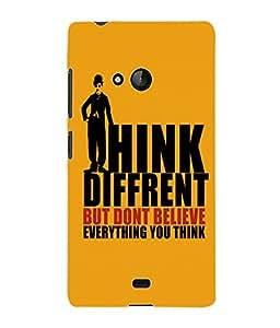 Fuson 3D Printed Quote Designer Back Case Cover for Microsoft Lumia 540 - D957