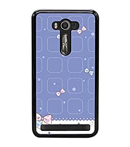 Cute Hair Bow Pattern 2D Hard Polycarbonate Designer Back Case Cover for Asus Zenfone 2 Laser ZE550KL (5.5 INCHES)