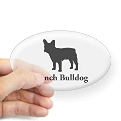 CafePress French Bulldog Silhouette Oval Sticker Sticker Oval from CafePress