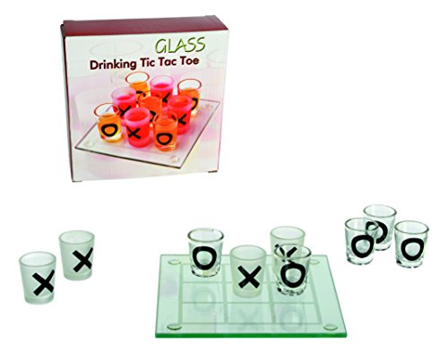 Glass Drinking Game Tic Tic Toe With 9 Glasses 13 x 13 cm by Out of the Blue