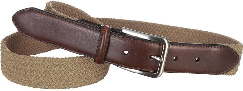 Boca Classics Khaki Fabric Stretch Belt Medium Khaki