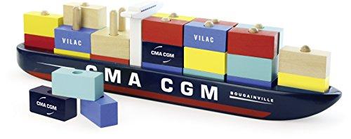 Vilac 40 x 6,2 x 10 cm de contenedores buque
