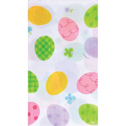 Amscam Extravaganza Plastic Table Cover, 1 Per Package, Multicolor