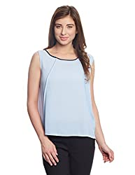 Madame Women's Body Blouse Top (M1518547_Sky Blue_Small)