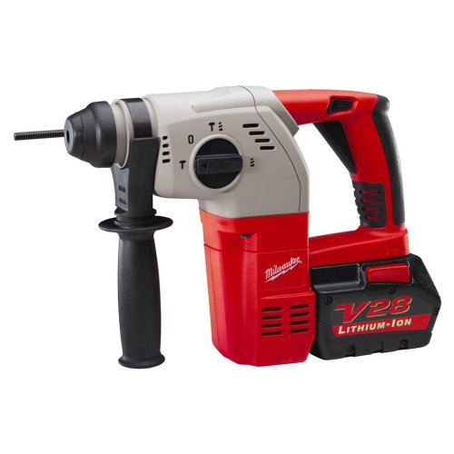 Milwaukee 0756-22 28-Volt Cordless V28 Lithium-Ion Compact 1-Inch Sds Rotary Hammer With Case front-623283