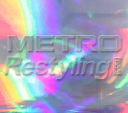 """Metro Holographic Silver Metal Sheen Graphic, Craft, Cricut & Sign Vinyl Decal Adhesive-Backed Sticker Film 24""""x12"""""""