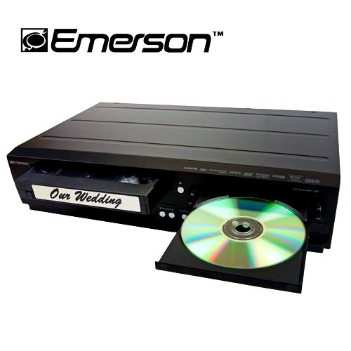 Emerson ZV427EM5 DVD/VCR Combo DVD Recorder and VCR Player With HDMI 1080p DVD/VHS, Progressive Scan Video Out, 5-Speed for Up to 6-hours Recording (Emerson Dvd Recorder compare prices)